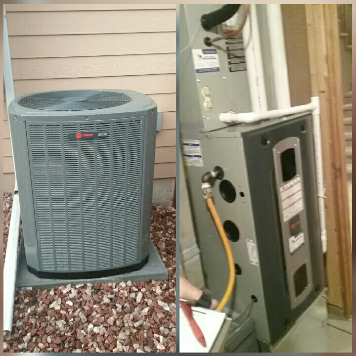 Greeley, CO - Install Trane 2 stage AC and Trane 2 stage furnace in Greeley