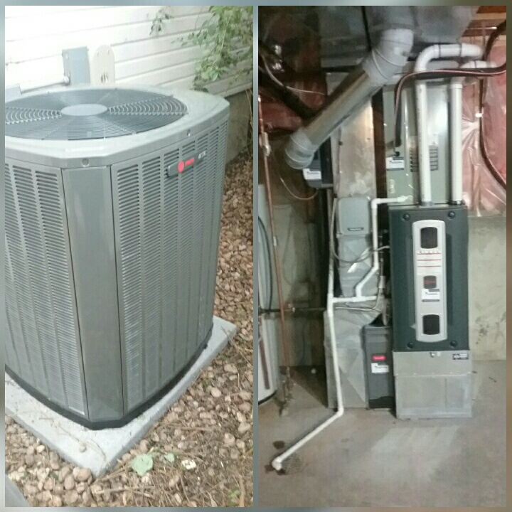 Greeley, CO - Install Trane variable speed 2 stage furnace and Trane 2 stage AC and honeywell humidifier in Greeley