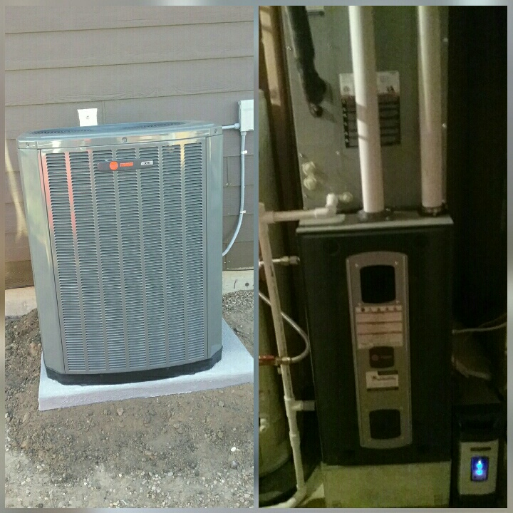 Evans, CO - Install Trane variable speed furnace and Trane AC and electronic air cleaner in Greeley