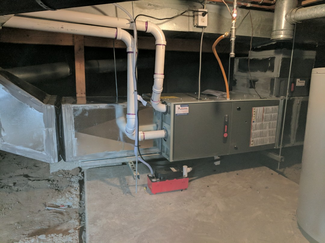 Kersey, CO - Finished furnace replacement