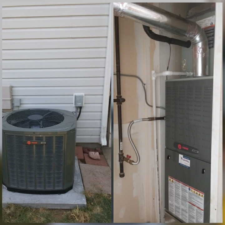 Evans, CO - Install Trane 80% efficient furnace and Trane AC in Evans