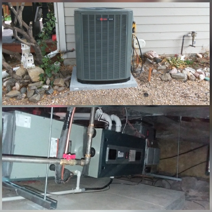 Severance, CO - Install Trane 2 stage furnace and Trane 2 stage AC in severance