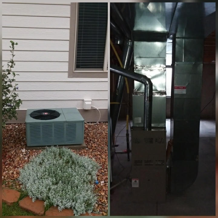 Evans, CO - Replace Rheem furnace and Rheem AC in Evans