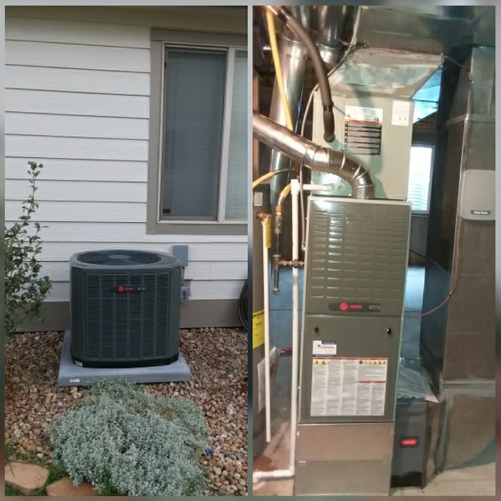 Evans, CO - Install Trane two stage furnace and Trane AC