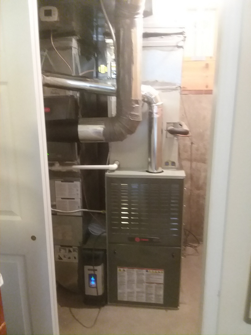 Greeley, CO - Install Trane 80%efficient  variable speed furnace and Honeywell humidifier and electronic air cleaner in Windsor