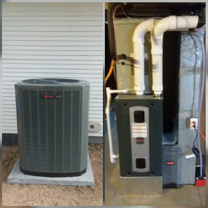 Kersey, CO - Install Trane 2-stage variable speed furnace and Trane two stage AC in Kersey