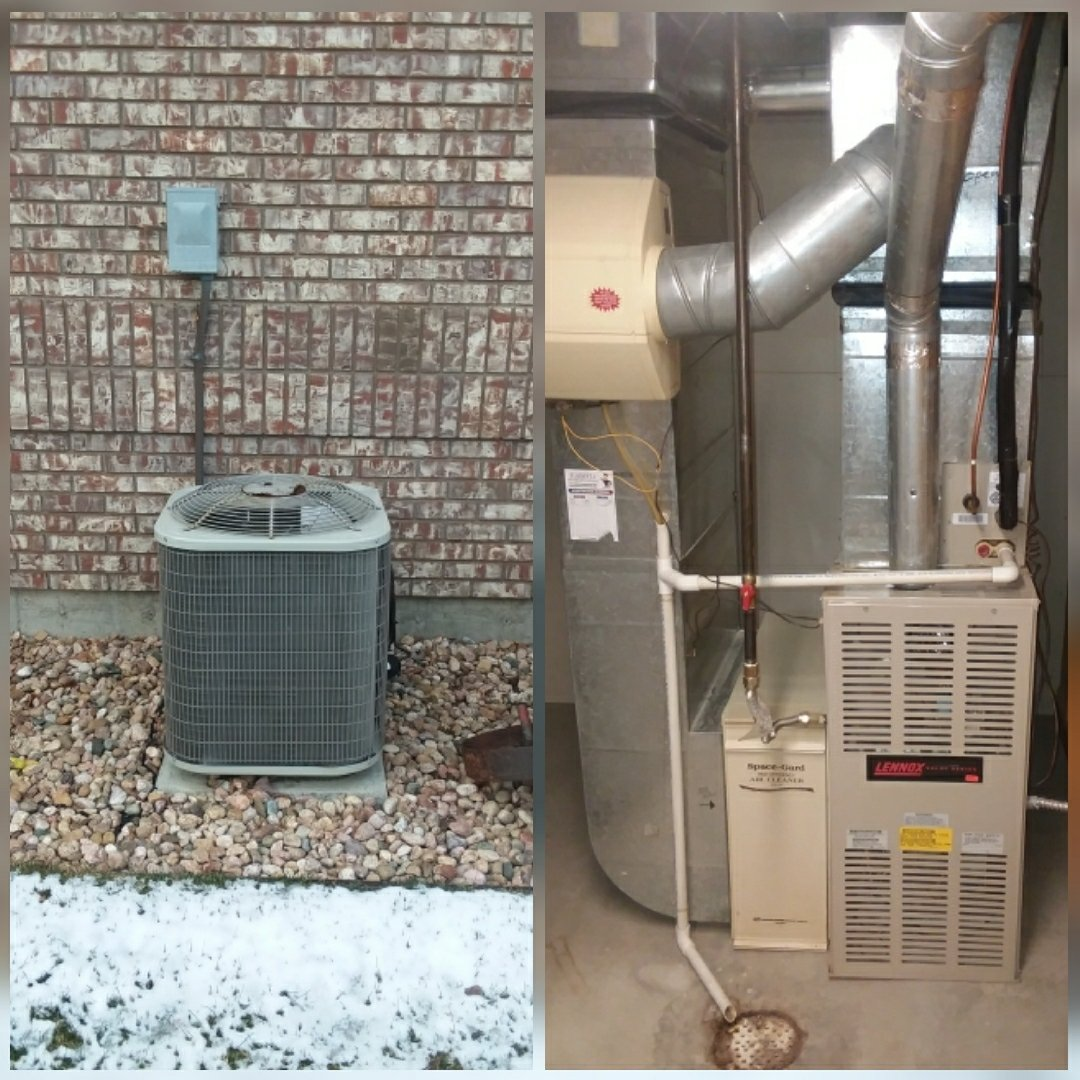 Eaton, CO - Replace Lennox furnace and Lennox AC in Eaton