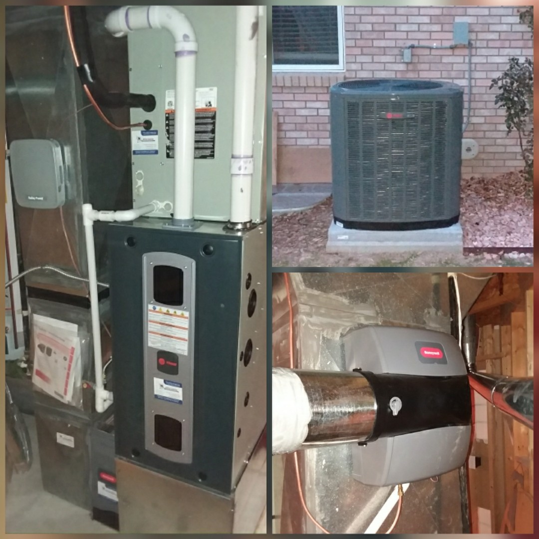 Greeley, CO - Install Trane 2-stage High efficient furnace and Trane AC and Honeywell humidifier in Greeley
