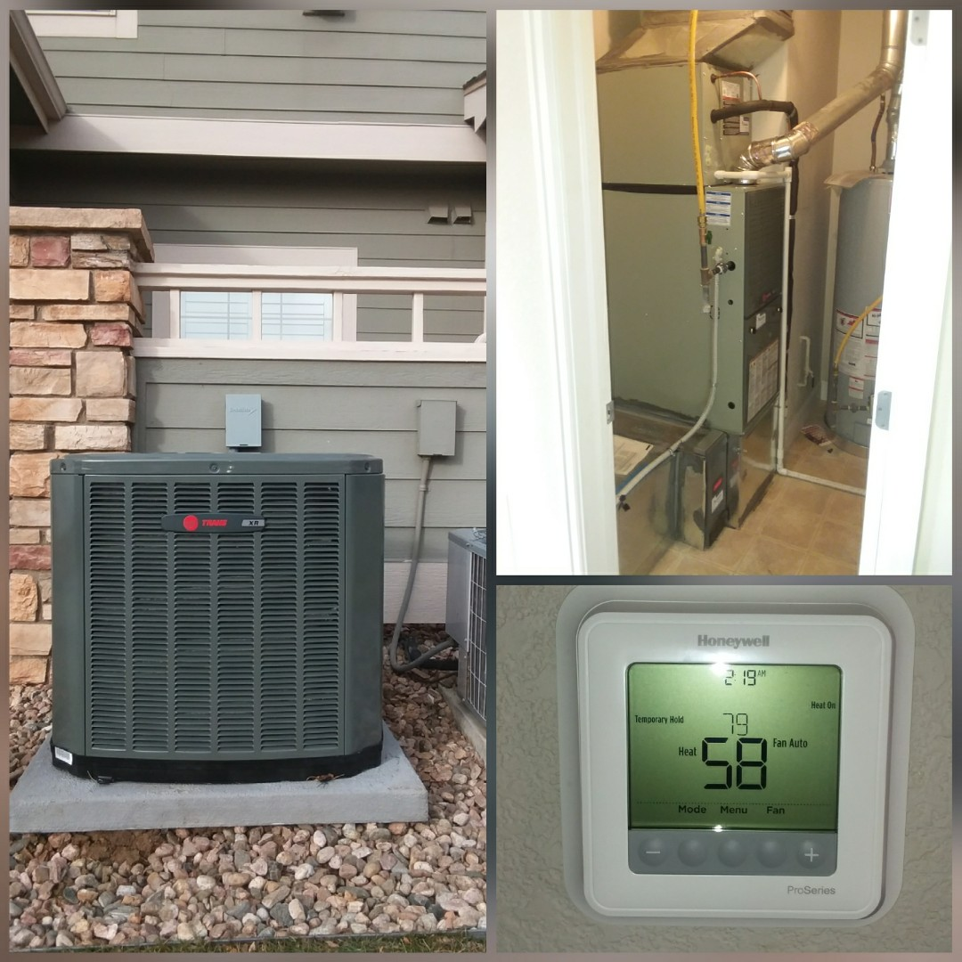 Greeley, CO - Install Trane 80% efficient furnace and Trane AC in Greeley