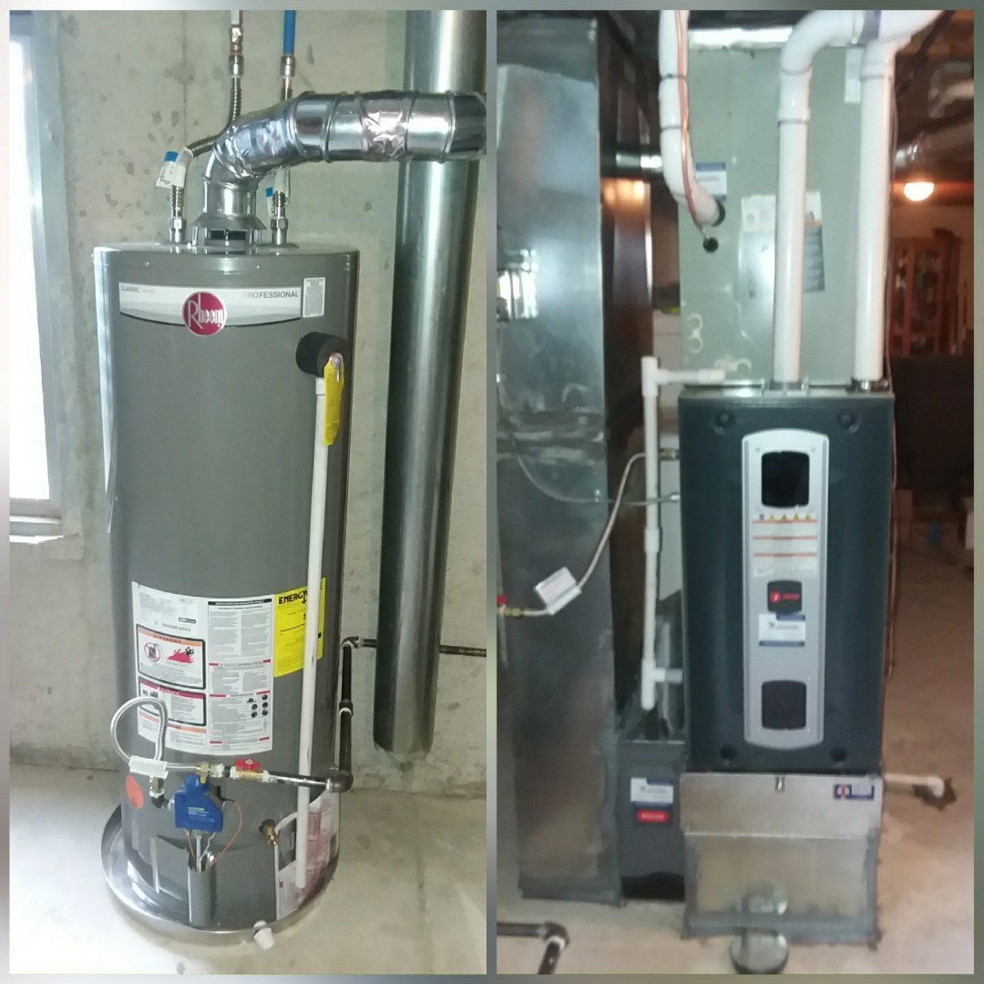 Evans, CO - Install Trane 2-stage variable speed furnace and train two stage AC and Rheem water heater in Evans