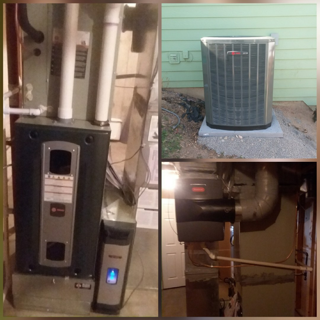 Greeley, CO - Install Trane 2-stage variable speed furnace and Trane 2-stage AC and Honeywell humidifier and electronic air cleaner in Greeley