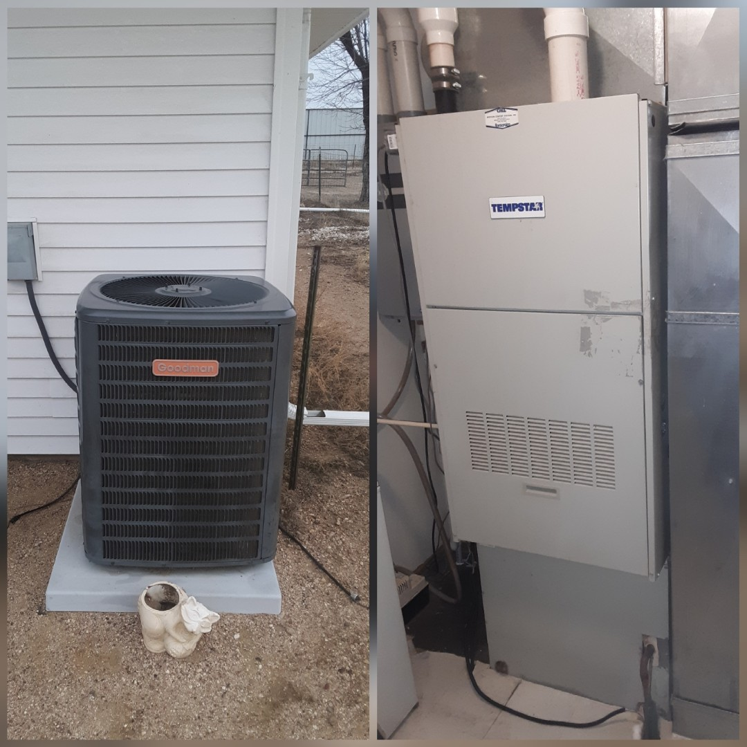 Greeley, CO -  replace Tempstar furnace and Goodman AC in Greeley