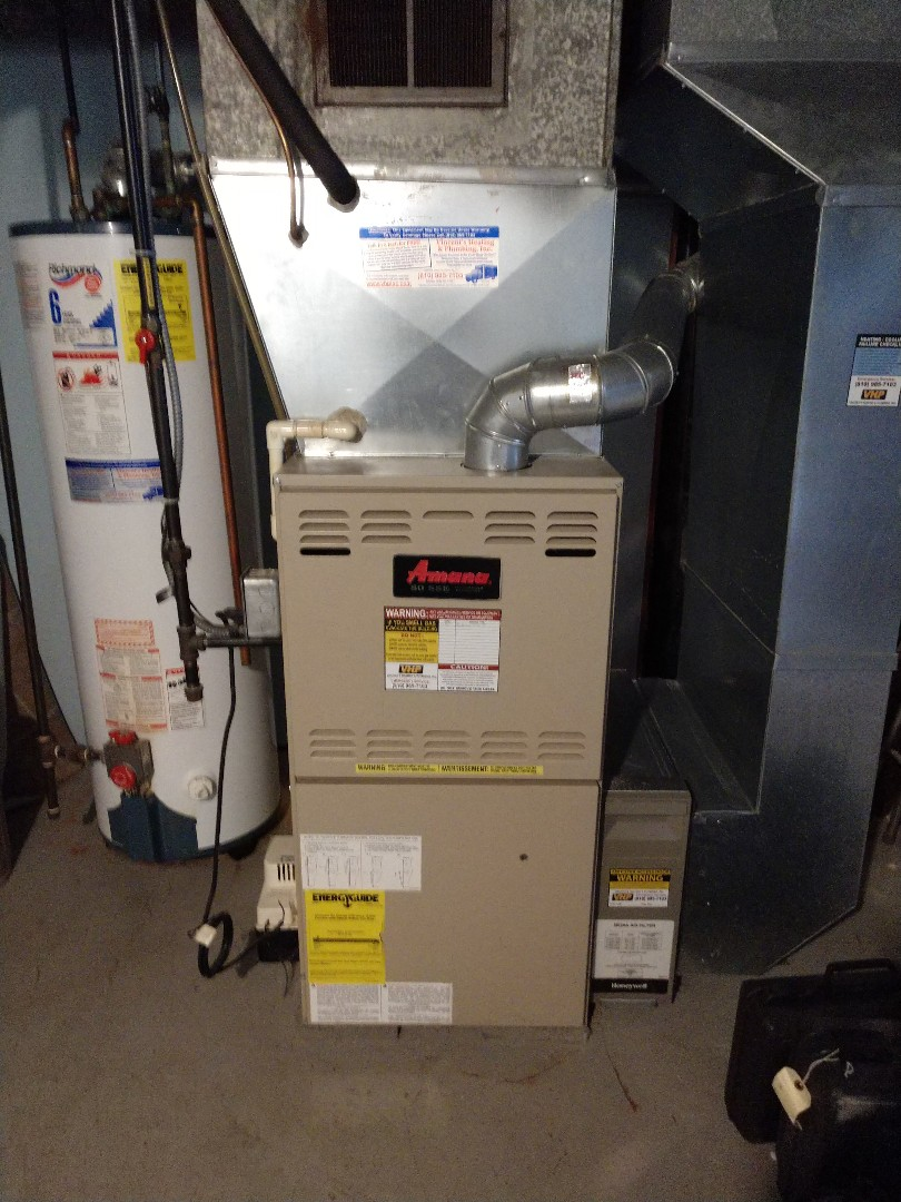 Fort Gratiot Township, MI - Maintenance tune up on Amana furnace