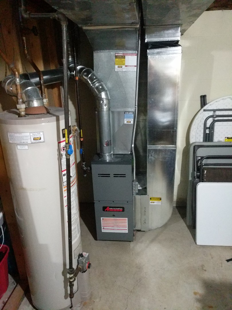 Saint Clair, MI - Amana furnace tune up, and change filter.
