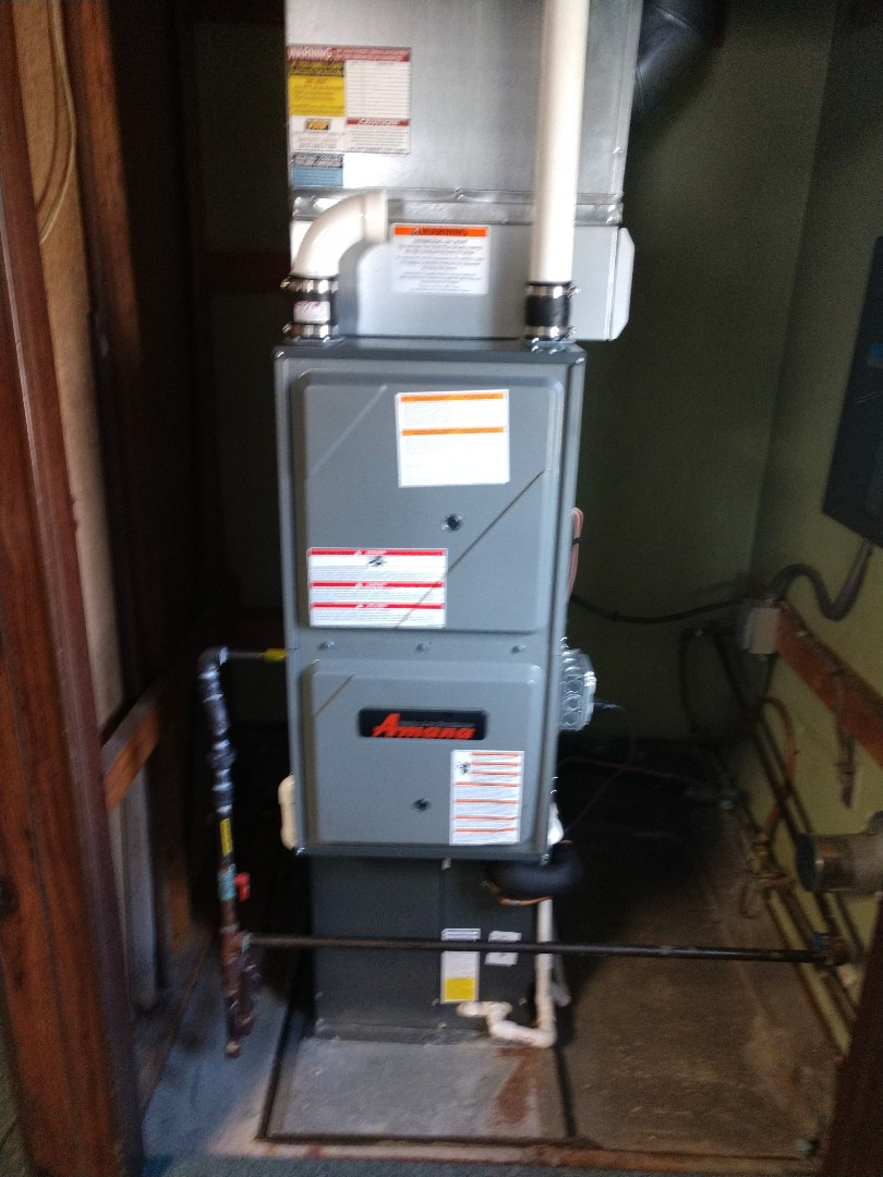 Saint Clair, MI - Installation of an Amana furnace and AC