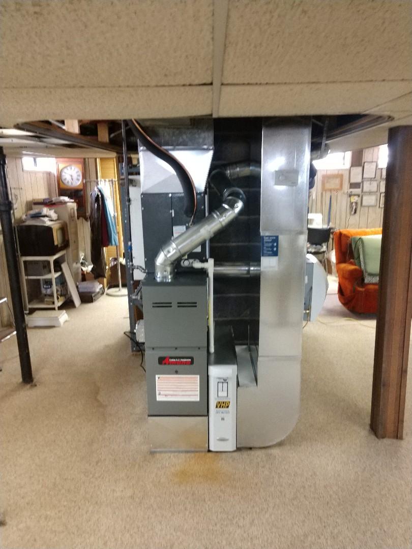Marysville, MI - Installation of an Amana furnace and AC