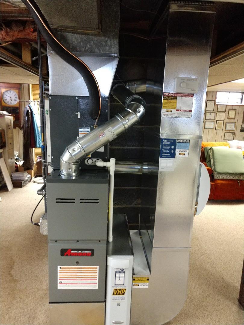 Marysville, MI - Newly installed Amana furnace