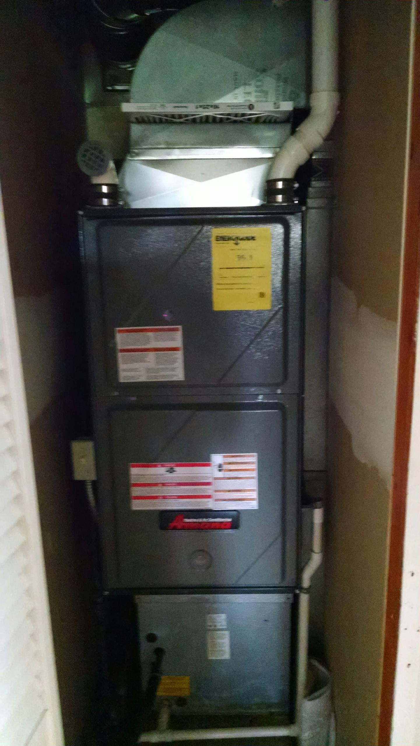 Memphis, MI - Amana furnace install