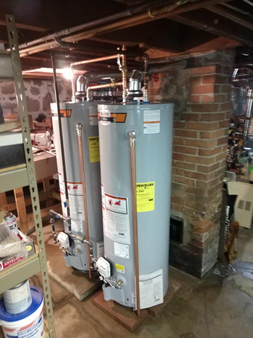 Lexington, MI - Installation of two new hot water tanks