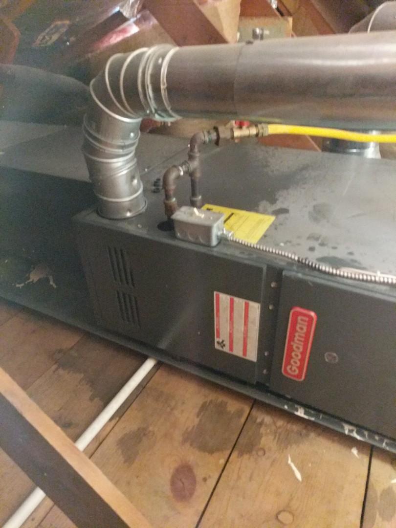Lexington, MI - Repair Goodman furnace in attic.