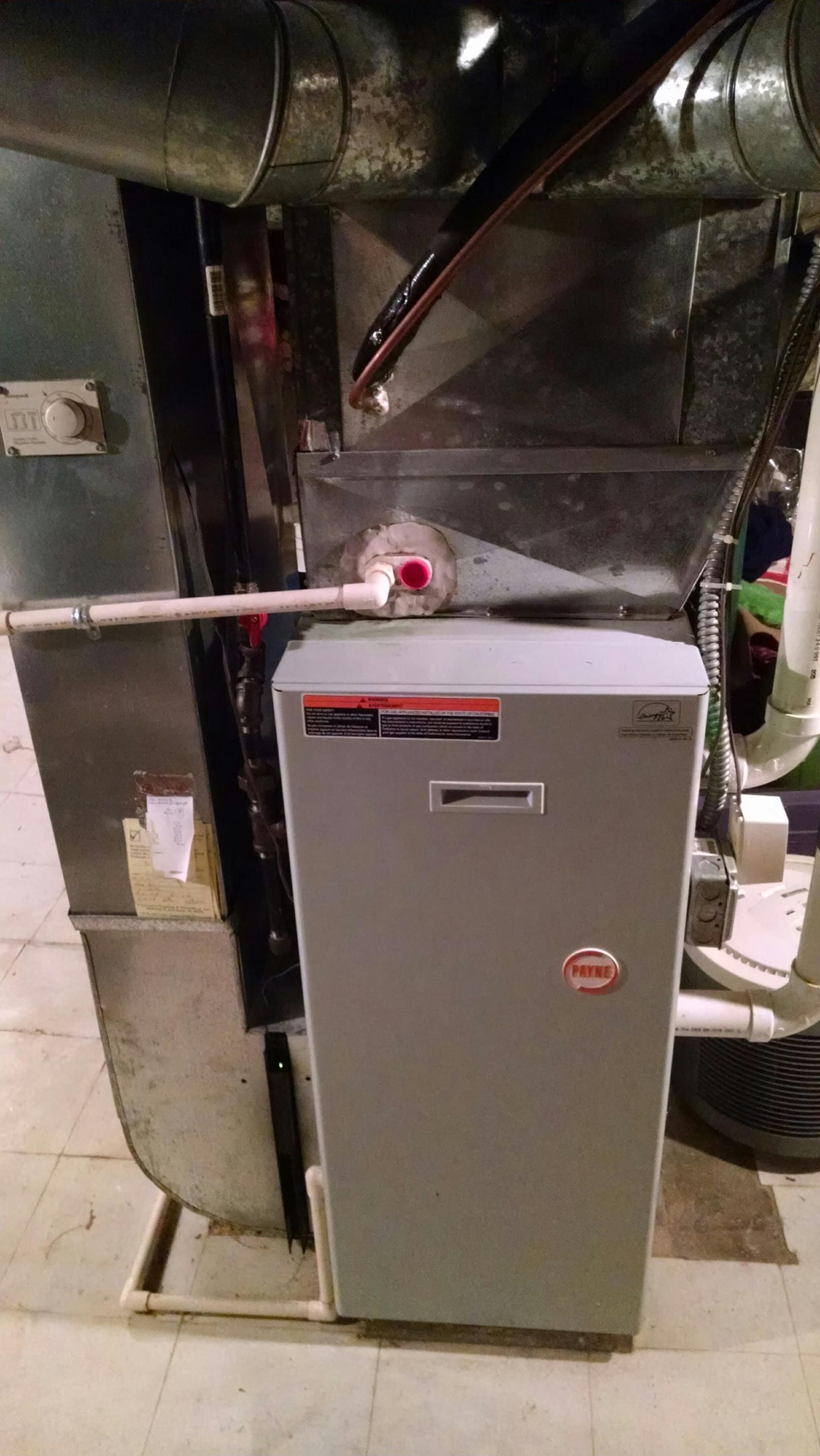 Lexington, MI - Heater repair call on a Payne.