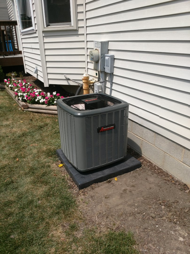 Saint Clair, MI - Installed new Amana 3 ton AC package
