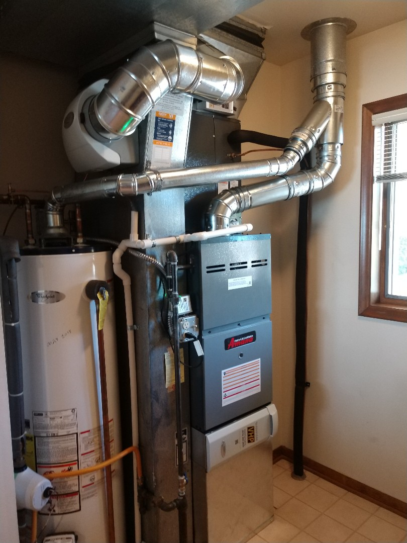 Lexington, MI - Installation of an Amana furnace and air conditioner
