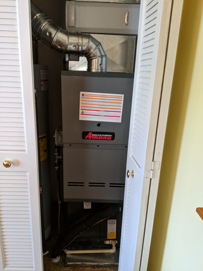 Saint Clair, MI - Inspection on newly installed Amana furnace and ac