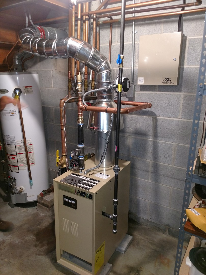 Smiths Creek, MI - Installed new well-mclain boiler