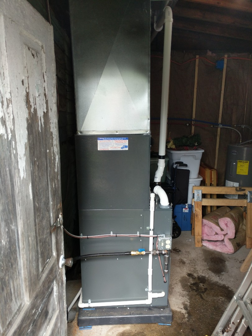 Port Huron, MI - New Amana furnace, AC, and duct work installation.