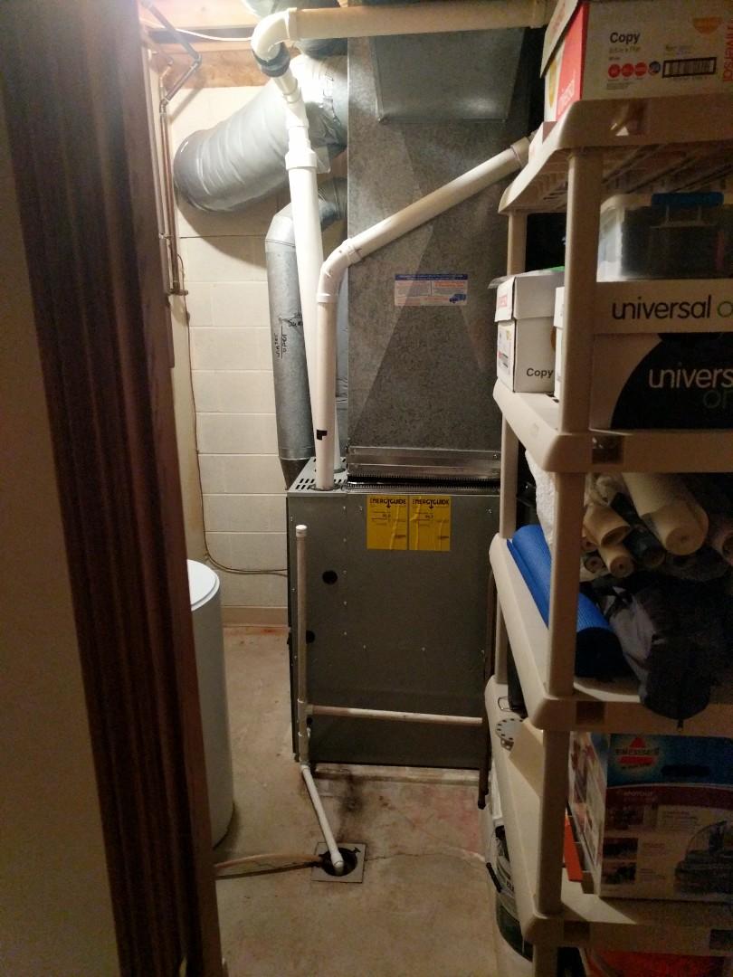 Lexington, MI - Trane furnace tune up.