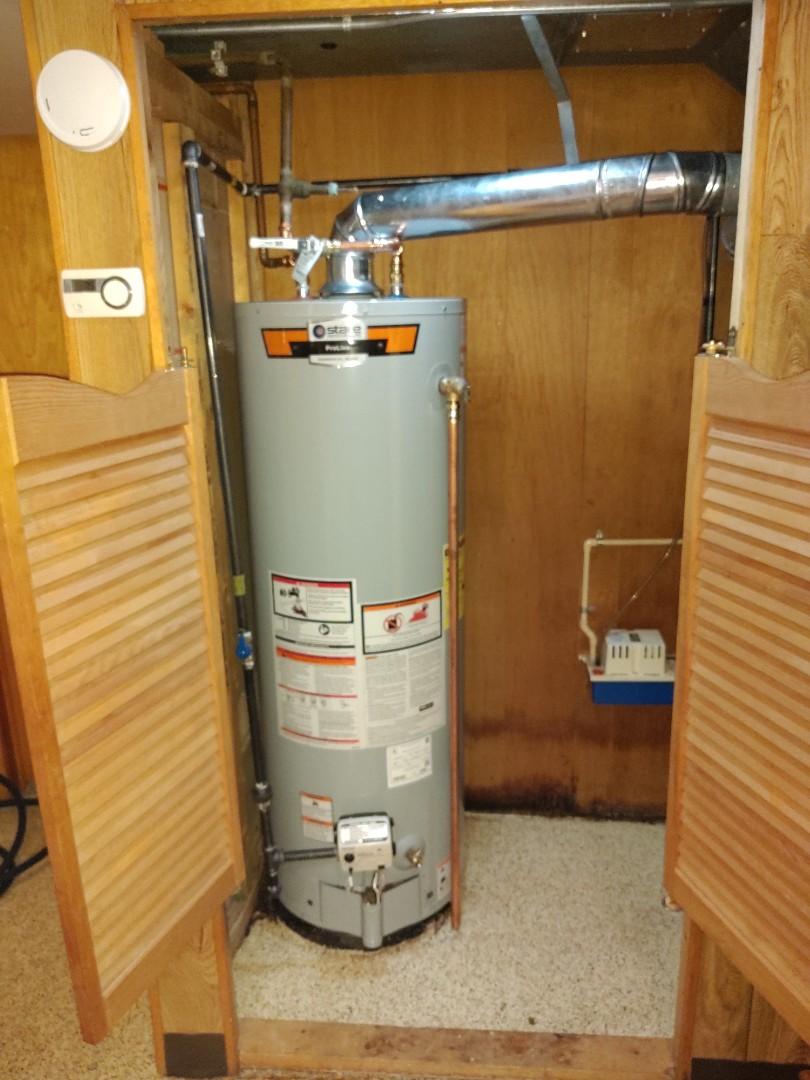 China Township, MI - Installed new 40 gallon hot water tank