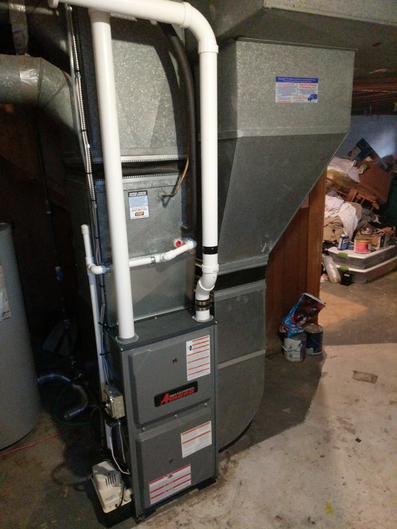 Saint Clair, MI - New Amana furnace and water heater final inspection.