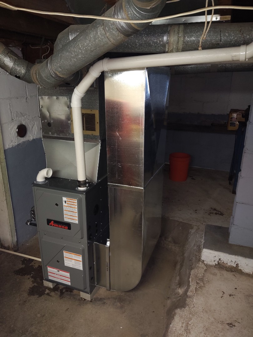 Marine City, MI - Installed new 96% 80,000btu Amana furnace