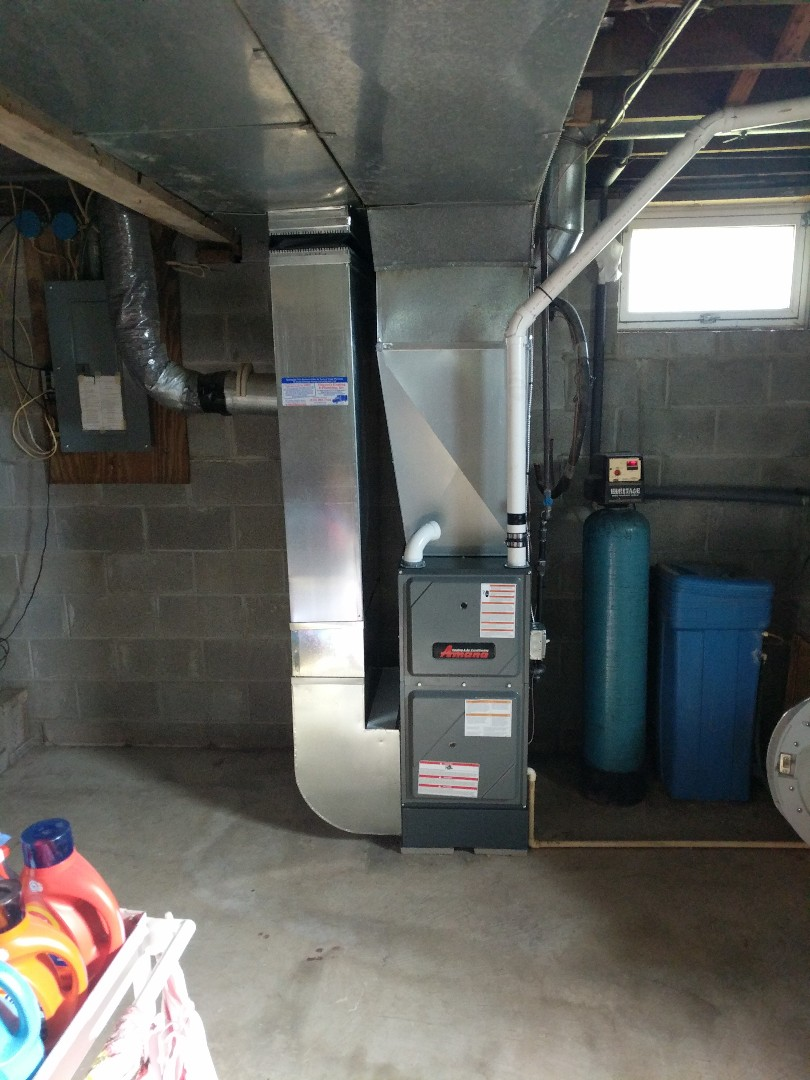 Yale, MI - New furnace quality check.