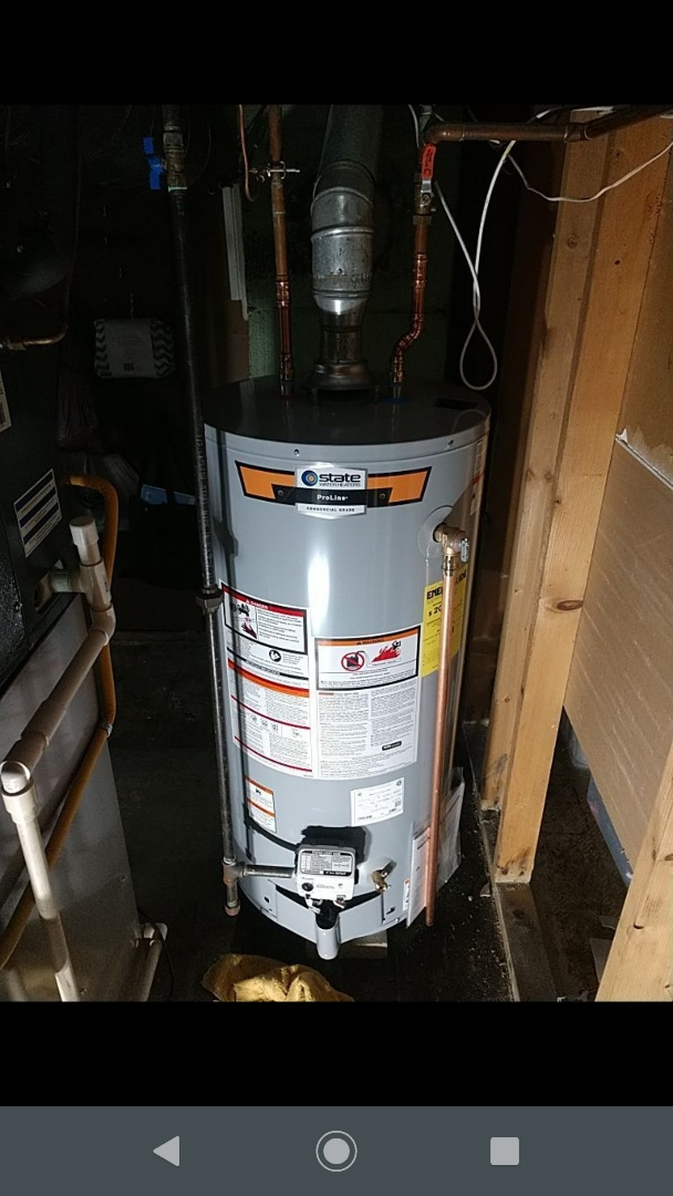 Saint Clair, MI - 40 gal Nat gas water heater replacement.