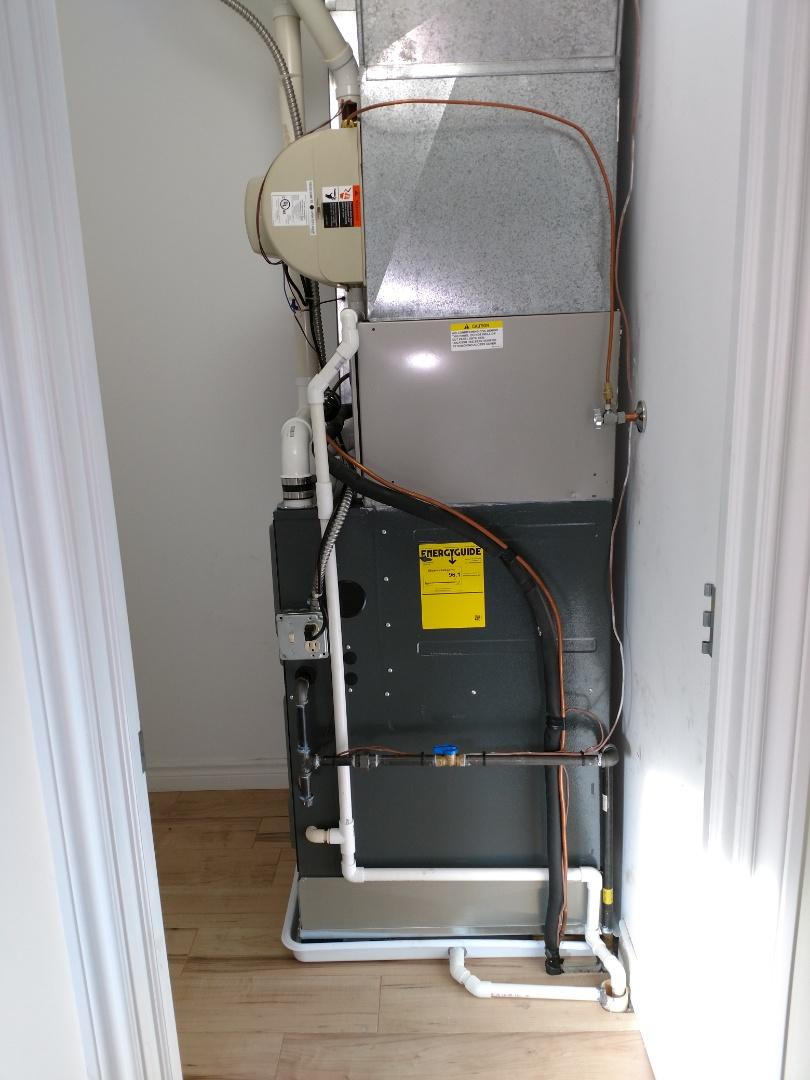 Lakeport, MI - Install New furnace 96%60000 btu Amana