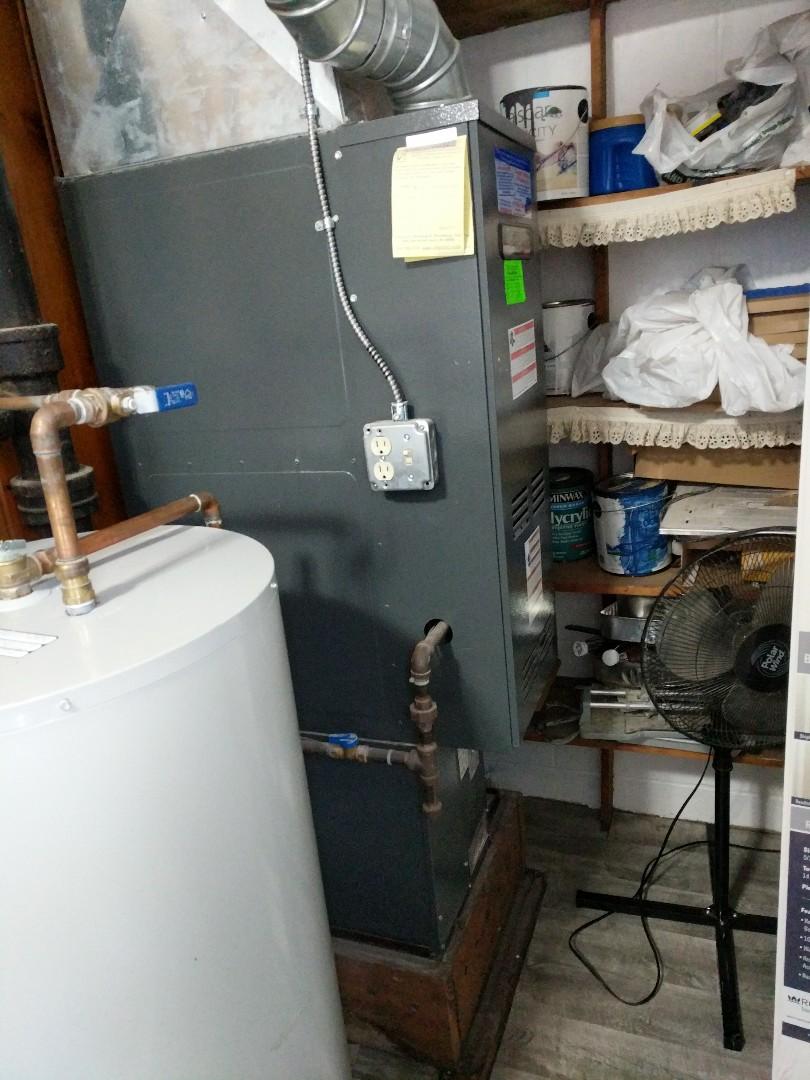 Lexington, MI - Repair Amana 80% furnace.