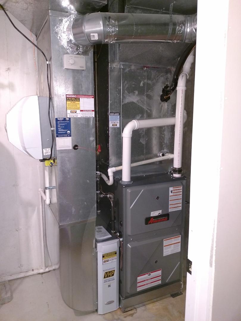 Marysville, MI - Install new furnace 96%100000btu Amana