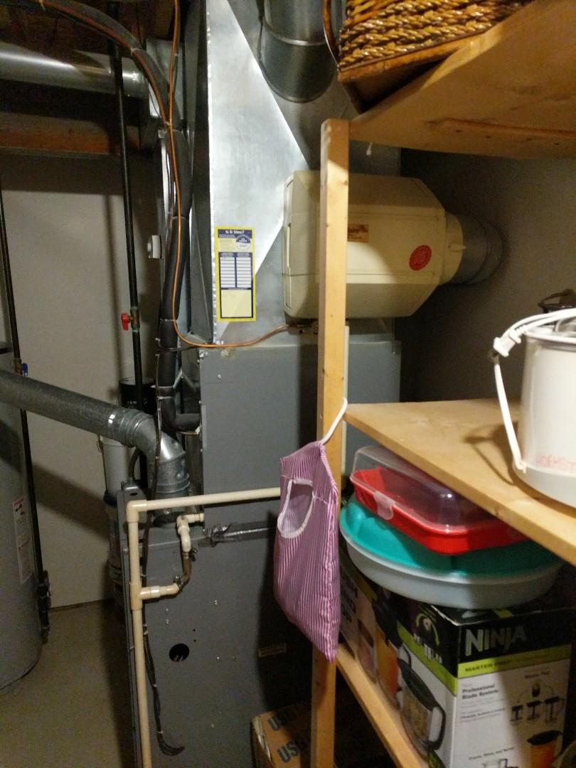 Fort Gratiot Township, MI - Humidifier adjustment.