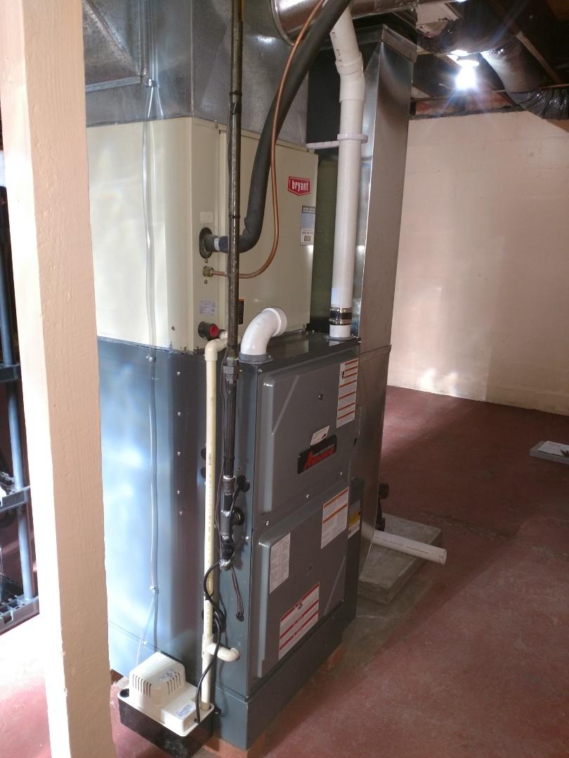Port Huron, MI - Install new furnace 96%80000 btu Amana