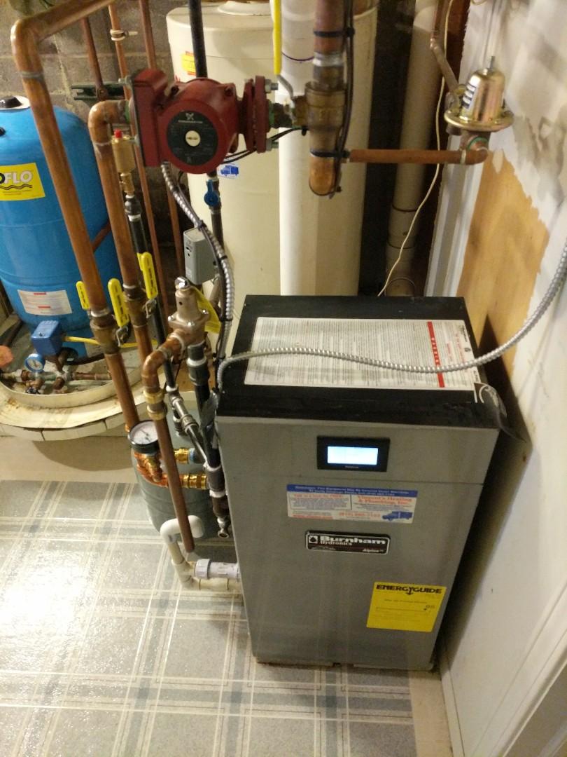 North Street, MI - Repair Burnham boiler system.