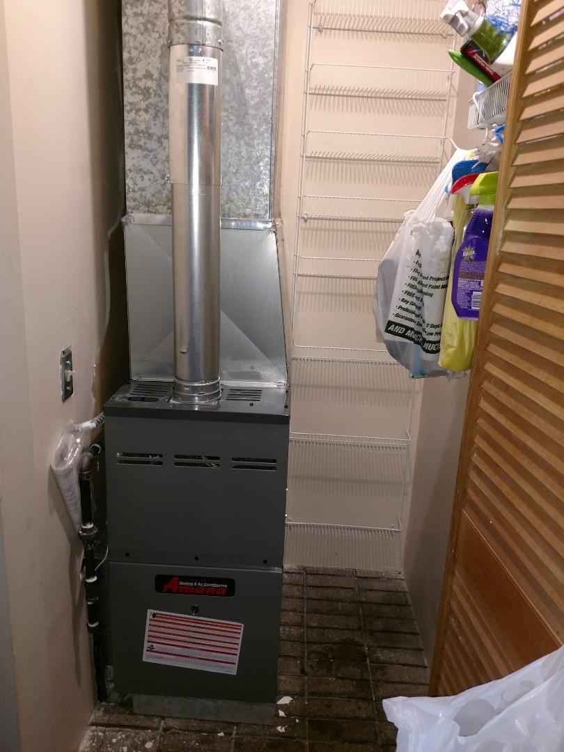 Fort Gratiot Township, MI - Install new furnace 80%60000btu amana