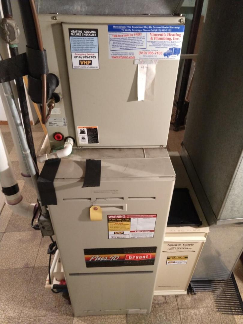 Marine City, MI - Bryant furnace repair