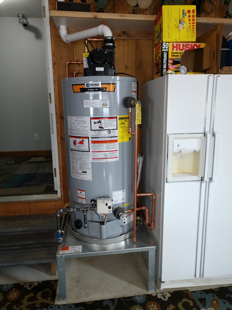 Goodells, MI - Water heater to wood boiler install