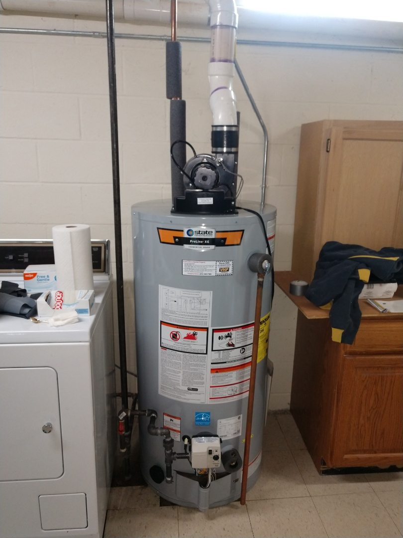 China Township, MI - 50 gal power vent water heater install