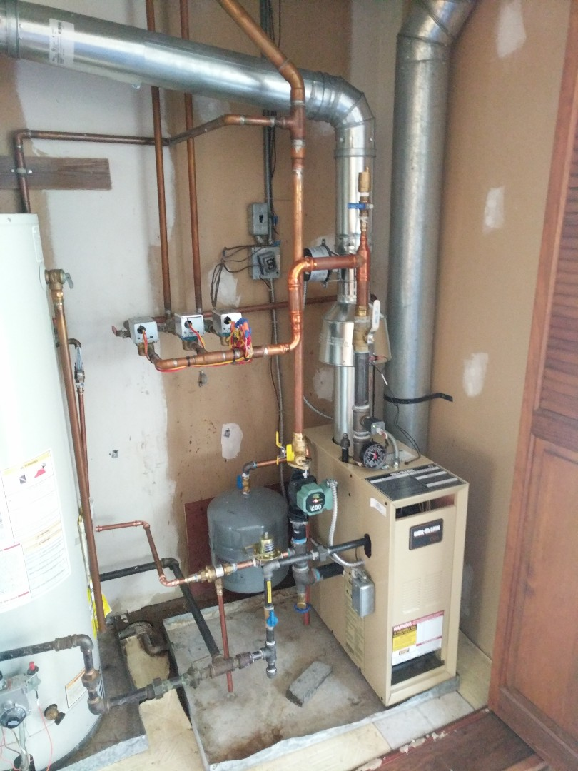 Croswell, MI - Weil McLain boiler leak repair.