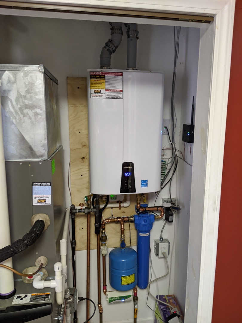 Lexington, MI - Navien water heater install