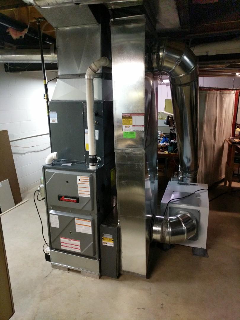 Memphis, MI - New Amana furnace final check.