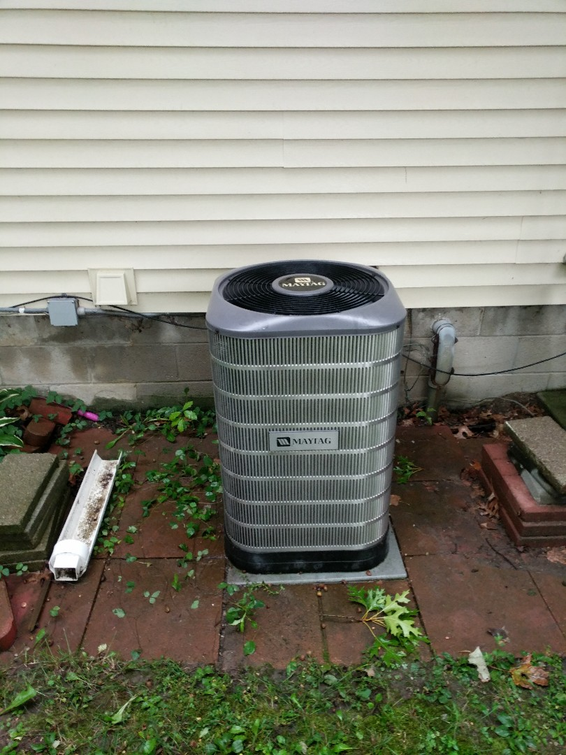East China, MI - Maytag AC clean and check.